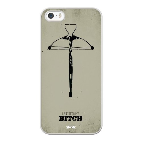 Coque,Coque iphone 5 5S SE Case Coque, Walking Dead Fan Art Cover For Coque iphone 5 5S SE Cell Phone Case Cover blanc