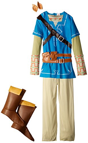 Link Breath Of The Wild Deluxe Costume, Blue, X-Large (Character Costumes For Kids)
