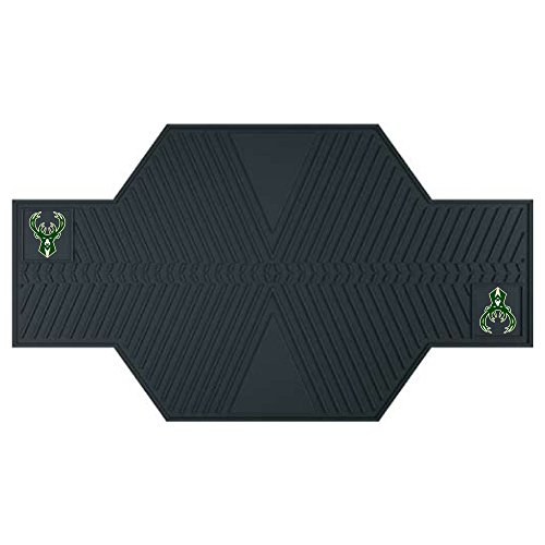 FANMATS 15384 NBA Milwaukee Bucks Motorcycle Mat by Fanmats