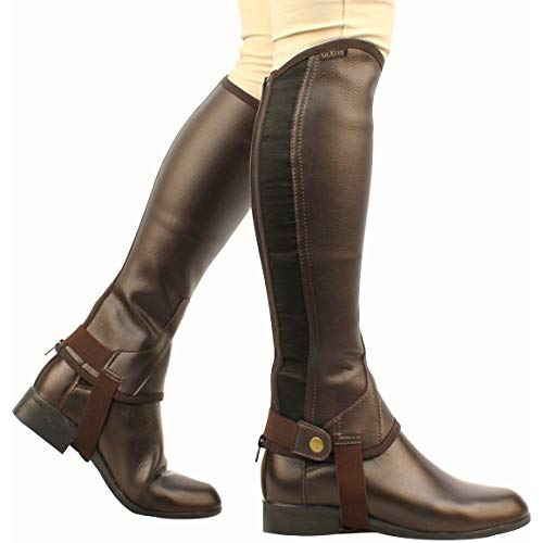 Saxon Women's Equileather Half Chaps Boots, Brown, X-Large