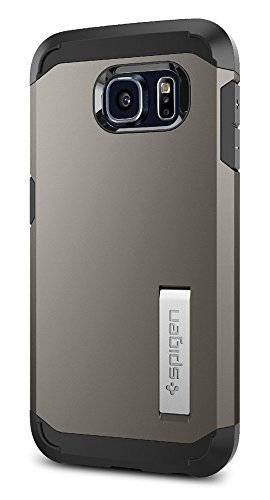Price comparison product image Spigen Tough Armor Galaxy S6 Case with Kickstand and Air Cushion Techonology for Galaxy S6 2015 - Gunmetal