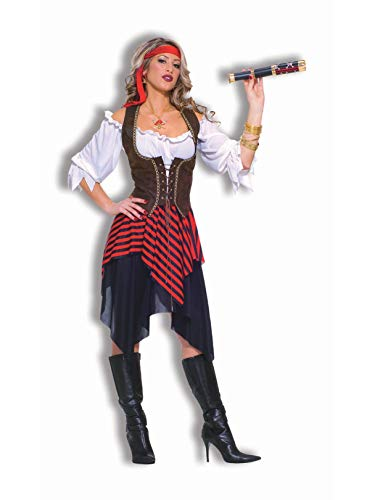 (Forum Novelties Women's Sweet Buccaneer Pirate Costume, Black/Red,)