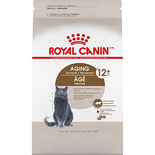 Royal Canin Aging Spayed/Neutered Senior 12+ Dry Cat Food (7 lb) (The Best Cat Food For My Cat)