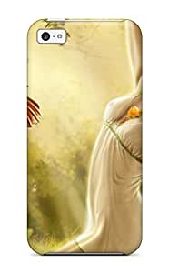 Hot For Iphone 5c Premium Tpu Case Cover Digital Fantasy Girl Art Protective Case