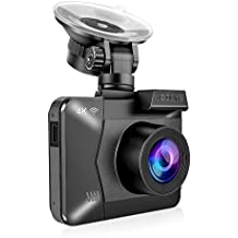 4K Car Dash Cam, AZDOME Ultra HD 2160P Dash Camera 2.4 Inch LCD Built-in GPS and WiFi 170 °Ultra HD Wide Angle, G-Sensor, WDR Super Night Vision, Loop Recording, Parking Monitor, Motion Detection