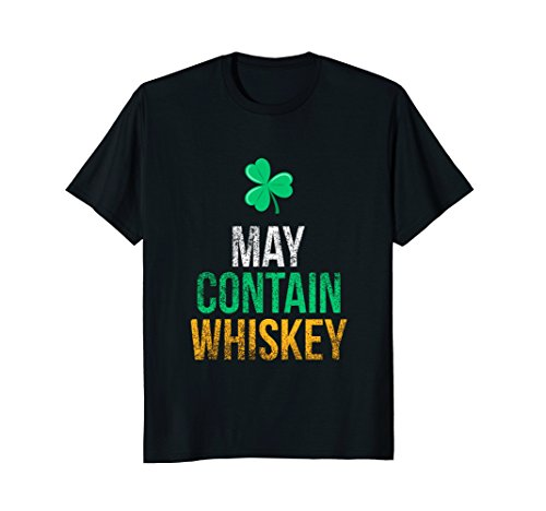 May Contain Whiskey Funny Irish Whiskey Lover T-Shirt
