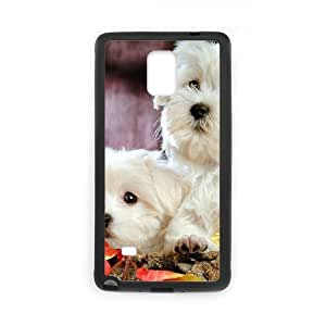 JCCFAN cute dog Phone Case For Samsung Galaxy note 4 [Pattern-1]