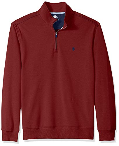 IZOD Men's Advantage Performance Fleece 1/4 Zip, Biking red, X-Large ()