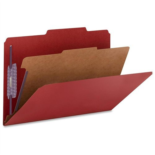 (Smead 18731 Bright Red Colored Pressboard Classification Folders With Safeshield Fasteners - Legal - 8.50 X 14 - 2 Expansion - 2 X Prong K Style Fastener - 2 Folder Fastener Capacity - 2/5 Tab Cut)