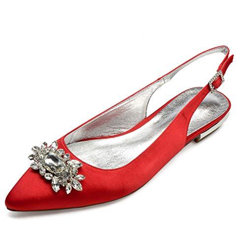 Tarde Boda De Moda De 36 De De SatéN Mujeres Las De Marfil 43 TamañO Zapatos L YC Red Bombas La tqF7OO