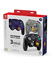 PowerA Extreme Party Pack! Wireless Controller for Nintendo Switch : 3 Pack (Purple, Black, Gray) - Nintendo Switch - Nintendo DS