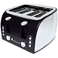 Coffee Pro - 4-Slice Multi-Function Toaster With Adjustable Slot Width Black/Stainless Steel Product Category: Breakroom And Janitorial/Appliances