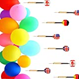GuassLee 500 Pcs Balloon Darts Carnival Game - 6' Latex Balloon Game Water Balloons and 8 Pcs Plastic Darts Bundle for Birthday Party Games, Outdoor Carnival Pop Party