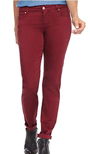 Home ware outlet - Jeans - Femme Rouge - Bordeaux