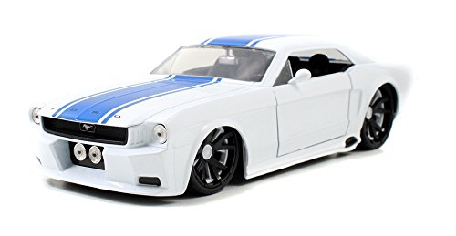 Jada 1965 Ford Mustang Hardtop Bigtime Muscles 1:24 Scale (White) -  96895r