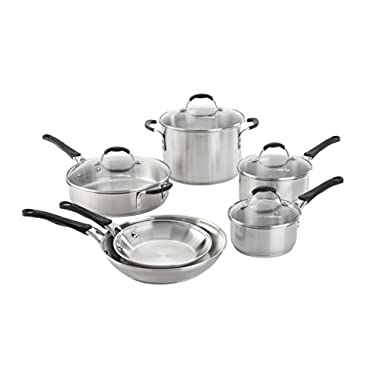 Calphalon 10 Piece Cookware Set, Medium, Stainless Steel