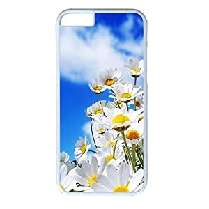 Hard Back Cover Case for iphone 6,Cool Fashion White PC Shell Skin for iphone 6 with Wildflower