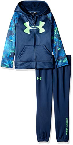 Under Armour Boys' Little Track Sets with Hood, Academy Bedrock camo, 4 (Camo Hoodies Under Armour)