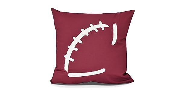 E by design Football Royal Decorative Geometric Throw Outdoor Pillow Blue 18