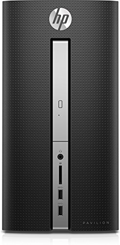 HP Pavilion Desktop Computer, Intel Core i5-7400 up to 3.50 GHz, 12GB RAM, 1TB hard drive, Windows 10 (570-p026, Black)