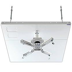 Qualgear Pro Av Qg Kit S2 3in W Projector Mount Kit Accessory Suspended Ceiling 2x2 Adapter White