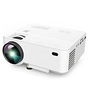 DBPOWER T21 Latest Upgraded LED Projector,+10% Lumens Multimedia Home Theater Video Projector Supporting 1080P, HDMI, USB, SD Card, VGA, AV for Home Cinema, TV, Laptops, Games, Smartphones & iPad