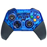 Wireless Controller for Nintendo Switch,Ignatv Pro Gamepad with Turbo for Nintendo Switch & Windows PC -Transparent Blue