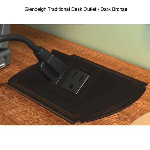 Glenbeigh Traditional Design Power Distribution Unit, Midnight Powder Coat, 6ft Power Cord by Byrne