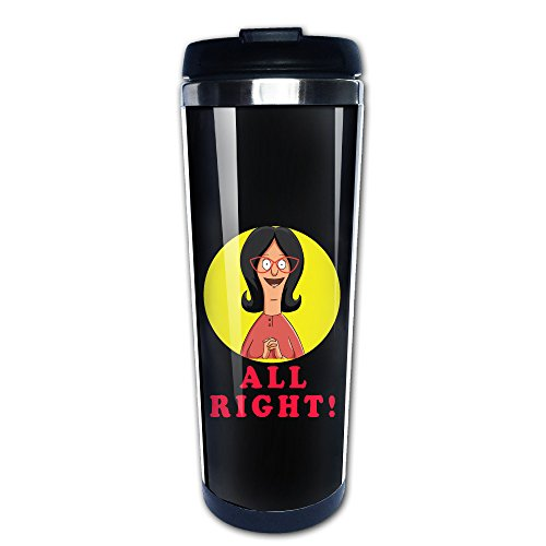 Bob Burgers Linda All Right! Travel Mugs Stainless Steel Coffee Cup