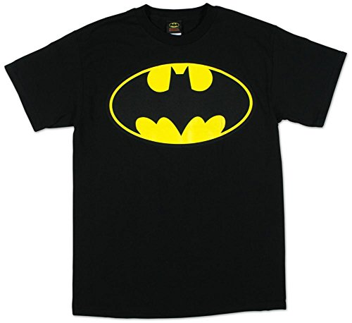 DC Comics Batman Classic Logo Adult T-Shirt - Black (XX-Large)