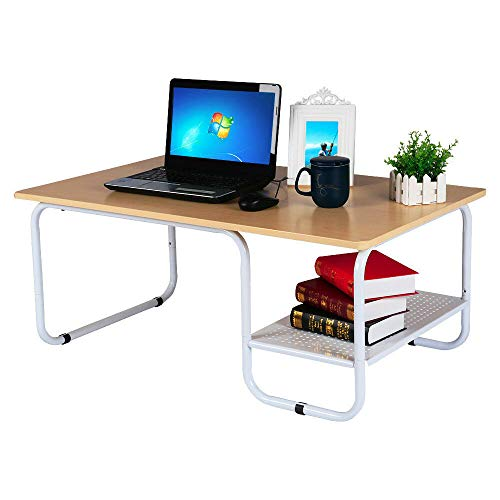 Cypress Shop Coffee Table End Table Small Size Tea Desk Floor Standing Desk Sofa Couch Side Table with Beneath Open Shelving Unit Storage Organizer Bedroom Living Room Home Office - Parlor French Table Lamp