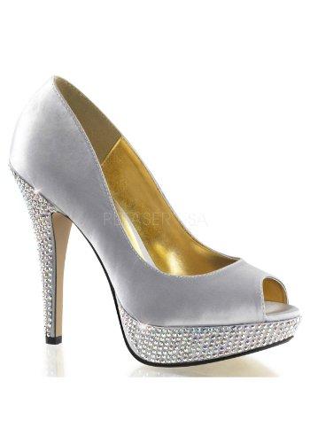 Para Satin Zapatos Pleaser Slv Vestir De Mujer 67qAH7w