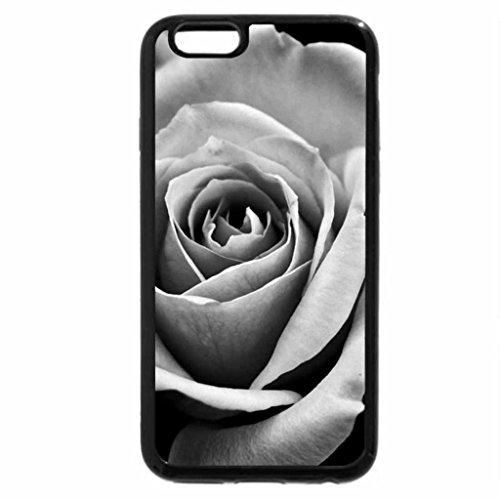 iPhone 6S Plus Case, iPhone 6 Plus Case (Black & White) - Faded Rose