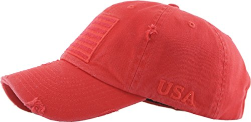 7be97f75376 KBVT-209 RED Tactical Operator with USA Flag Patch US Army Military Baseball  Cap Adjustable
