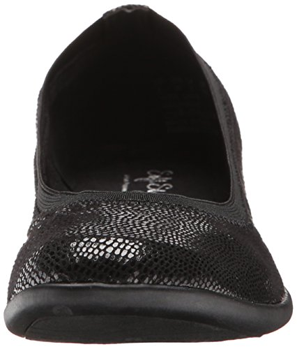 Rogan Black Flat Lizard Women's Puppies Soft by Hush Style OwqWTXA