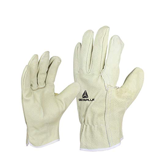 MOXUAN Protection Function Pigskin Protective Gloves Wear-Resistant General-Purpose Protective Gloves, Smart and Comfortable for Handling Work handguard