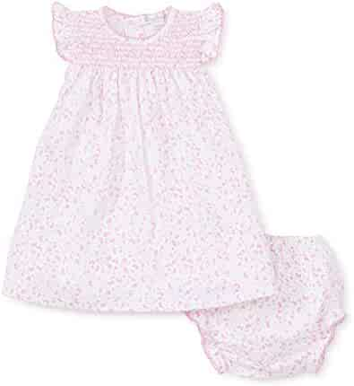 1d882a6f2 Kissy Kissy Baby-Girls Infant Mini Blooms Pink Print Dress with Diaper Cover