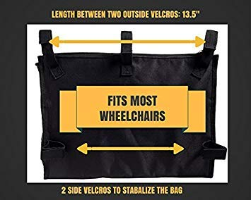 Amazon.com: Bolsa organizadora para silla de ruedas, gran ...