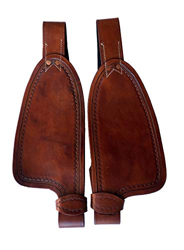 Equitem Smooth Leather Replacement Fenders Pair for 12