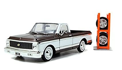 1972 124 Scale Chevy Cheyenne Pickup Just Trucks Series With Extra Wheels Brown