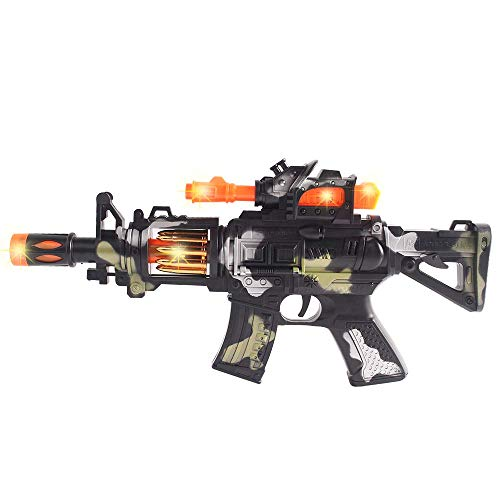 Anstoy Kids Toy Gun with Colorful Flashing LED Lights & Sounds & Vibration Effects,Imaginative Pretend Play for Girls &Boys as Birthday (Camouflage)
