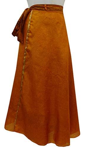 Beach Femmes La Pure Rouge Summer Dress Saree Vintage Orange Indianbeautifulart Imprimer Soie Les rversible Rouille Wrap Check 4xwq75A1