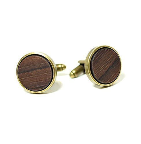 Wood cufflinks, handcrafted wooden cufflinks rosewood, walnut ,and more woods (Rosewood Walnut)