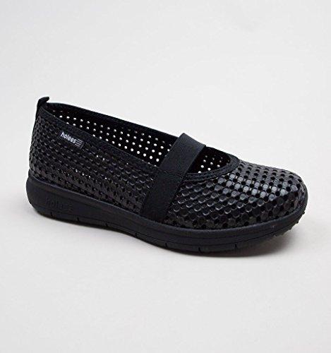 à black Lacets Femme Black Holees Chaussures de pour Ville CFwRqP