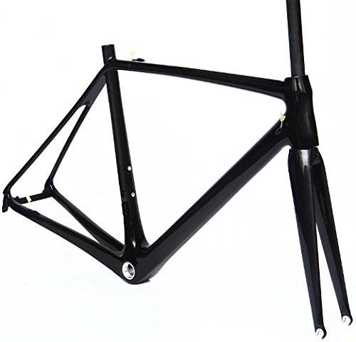 フルカーボンUD光沢700 CロードバイクサイクリングBSAフレームフォーク50 cm B00MWVR13Y