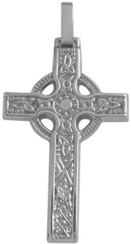 White Gold Large Celtic Cross - 8