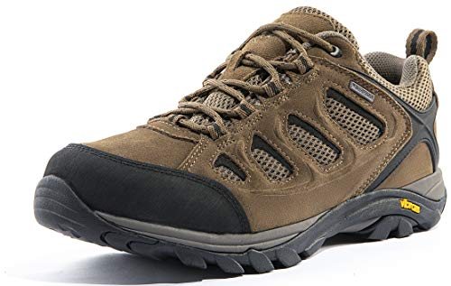 Wantdo Men's Waterproof Hiking Shoes Suede Leather Shoes for Outdoor Mountain Trainer Hiking Camping 8.5 M US Brown