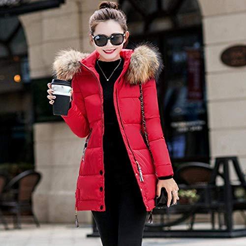 Battercake Rouge Longues Mode Doudoune Taille Elégante Manches Fit Fashion Blouson Chic Femme Quilting Épaissir À Capuchon Manteau Parka Chaud Slim Hiver Grande YYdwvx1