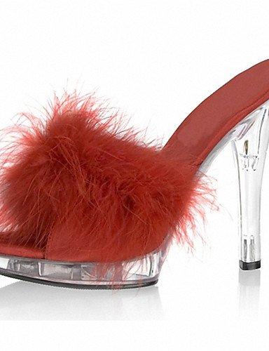 GGX/ Damenschuhe-High Heels / Slippers & Flip-Flops-Hochzeit / Lässig / Party & Festivität-Lackleder-Stöckelabsatz-Absätze / Zehenfrei / black-us11 / eu43 / uk9 / cn44