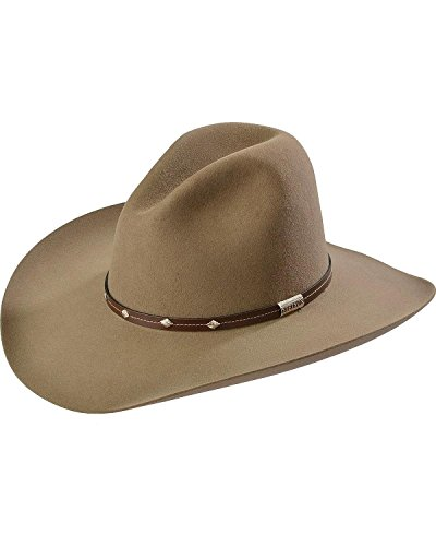 Stetson Men's 4X Silver Mine Buffalo Felt Cowboy Hat Stone 7 1/4 (Mine Silver Crown)